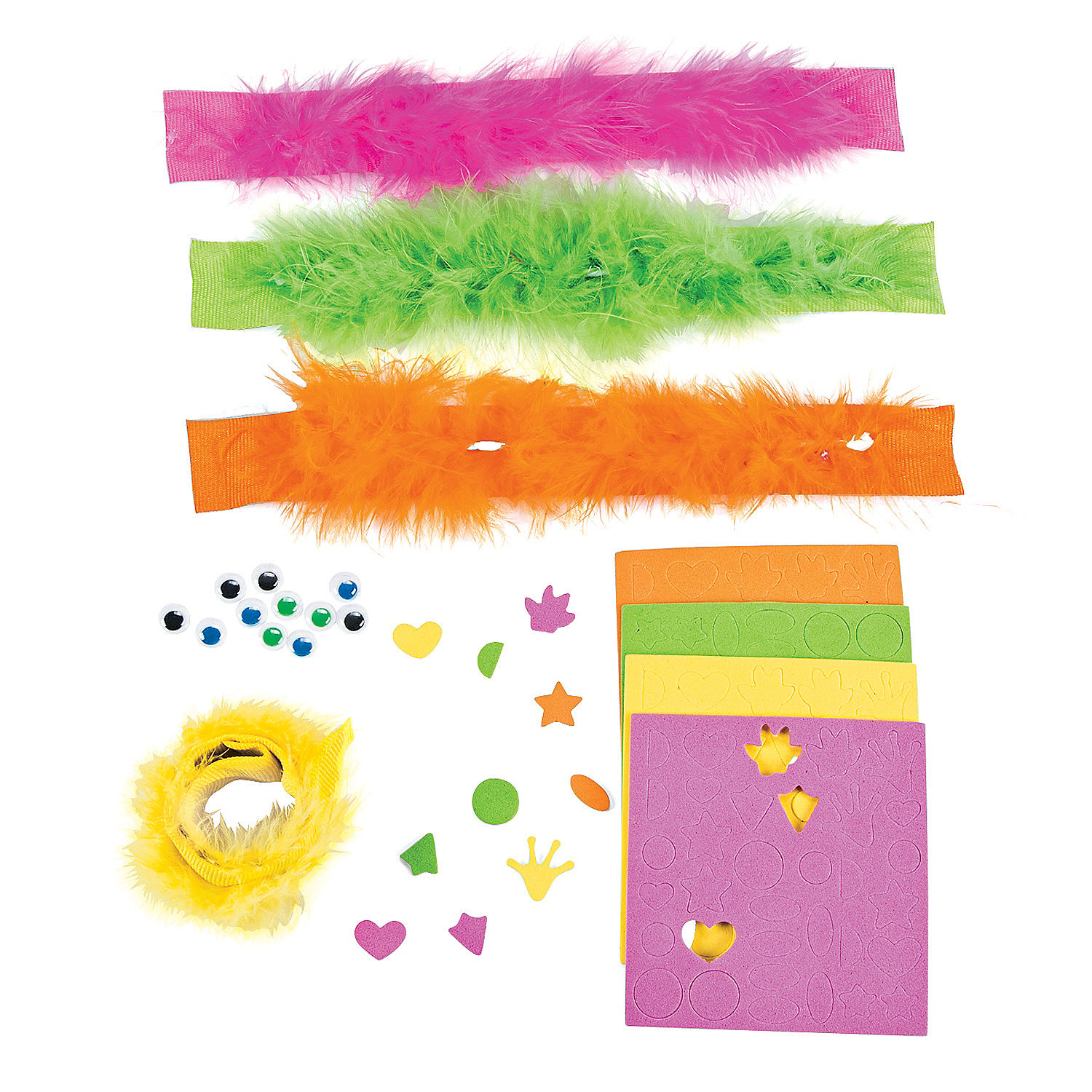 Wild wonders furry slap bracelet craft kit jewelry crafts for Furry craft
