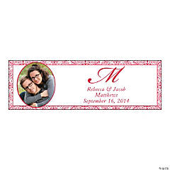 Small Red Custom Photo Wedding Banner