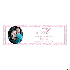 Pink Flourish Medium Custom Photo Banner