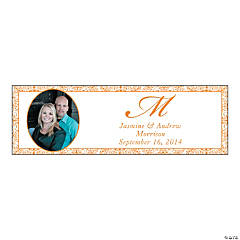Orange Flourish Medium Custom Photo Banner