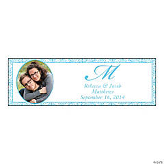 Light Blue Flourish Small Custom Photo Banner