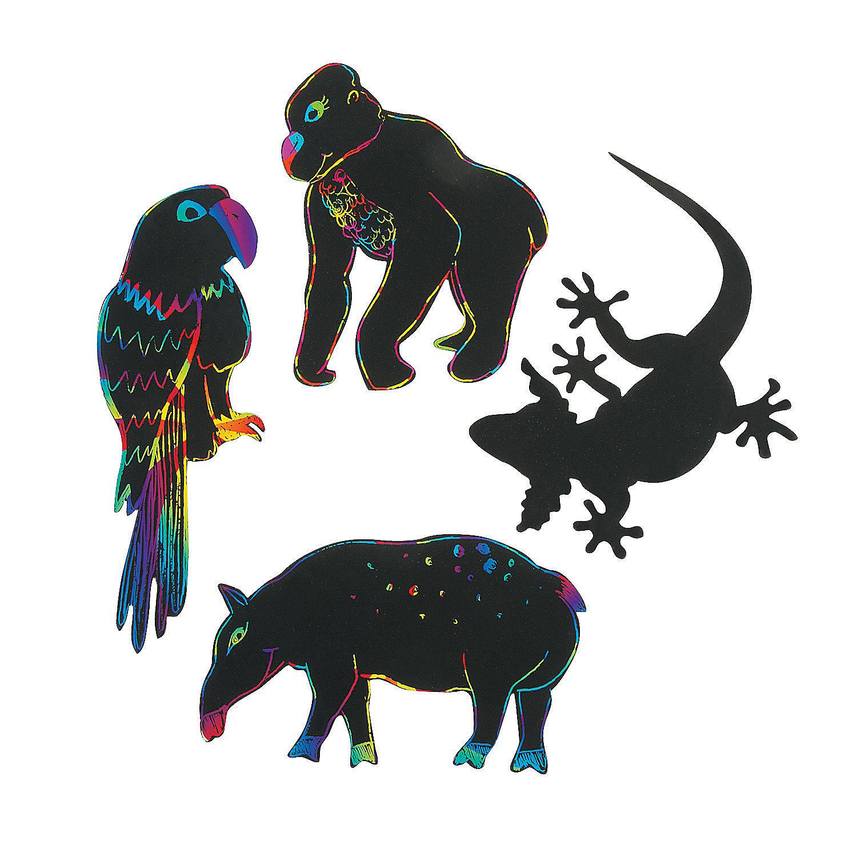 Wild Wonders Magic Color Scratch Animals, Magic Scratch ... - photo#16