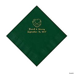 Hunter Wedding Personalized Hunter Green Luncheon Napkins
