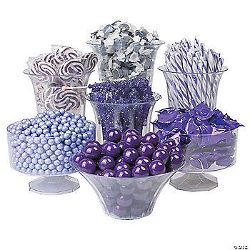 purple buffet assortment
