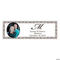Chocolate Flourish Medium Custom Photo Banner