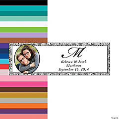 Black Flourish Small Custom Photo Banner