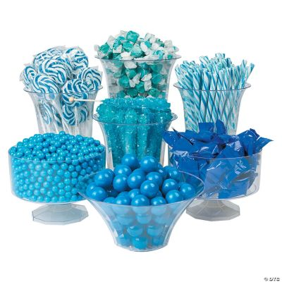 Blue Baby Shower Candy Buffet Part - 48: Baby Shower Candy Buffet For Boys