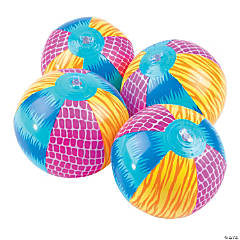 Bright Animal Mini Beach Balls