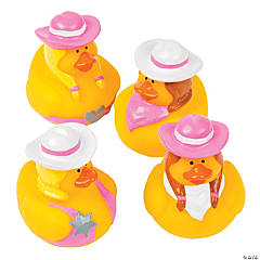 Vinyl Pink Cowgirl Rubber Duckies