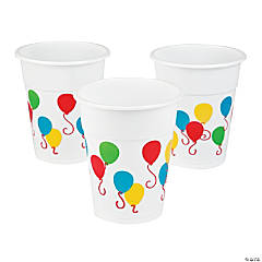 Balloon Print Disposable Cups