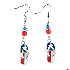 Flag Flip Flop Earrings Craft Kit