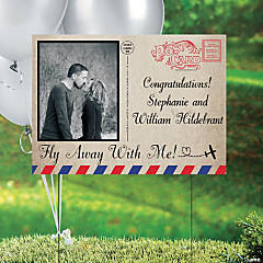 Fly Away with Me! Custom Photo Yard Sign
