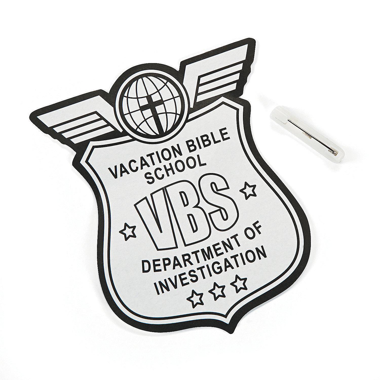 Color Your Own Secret Agent VBS Badges, Coloring Crafts