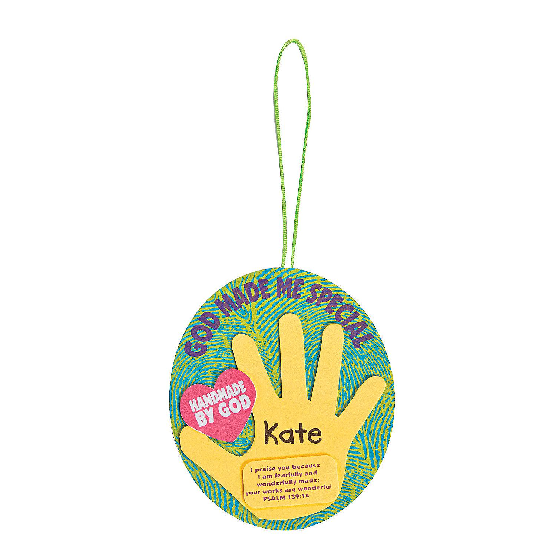 God Made Me Special Handprint Ornament Craft Kit A2 13649598 on Foam Animals Craft 2