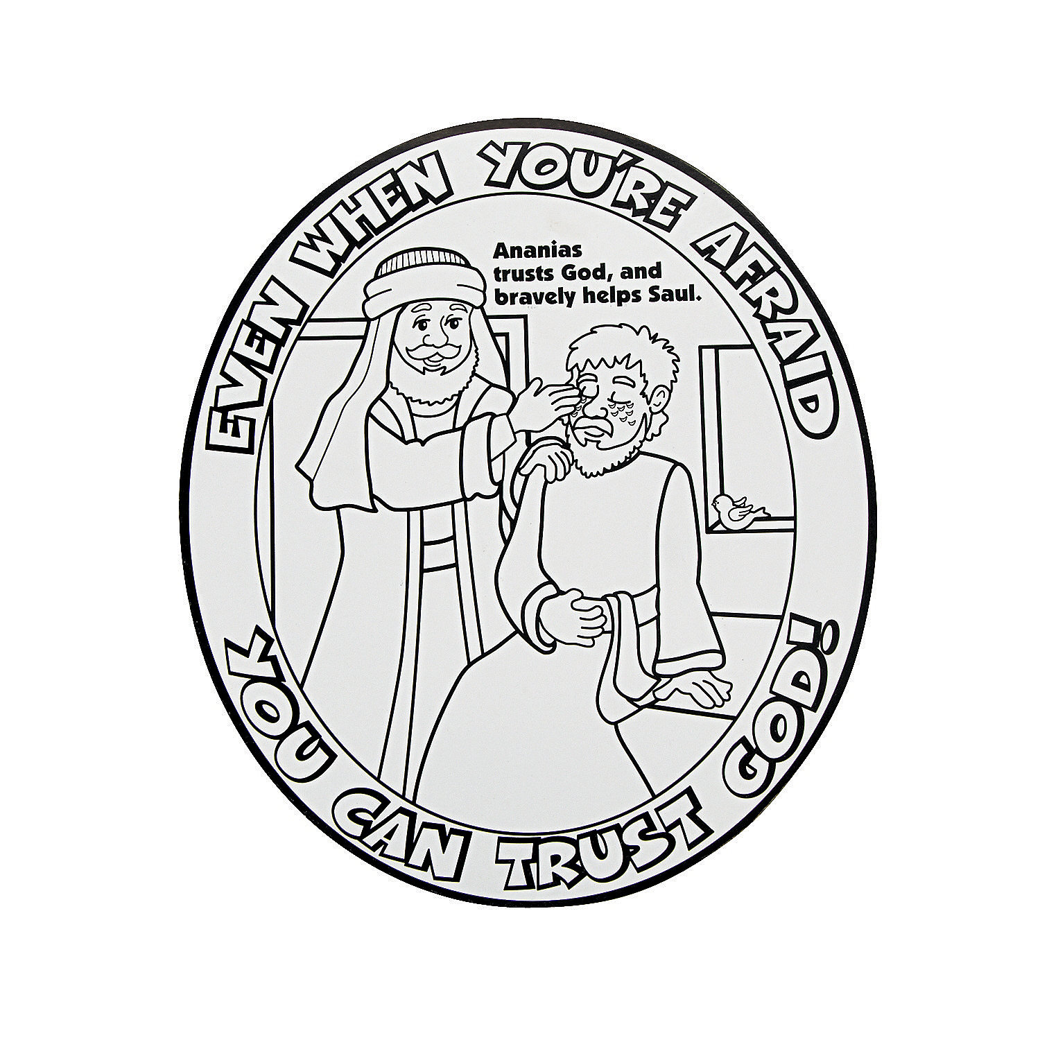 Childrens coloring sheet of saul and ananias -  Oriental Trading Valentine Coloring Pages Photo 34