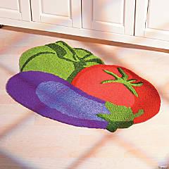 Vegetable Garden Hooked Rug
