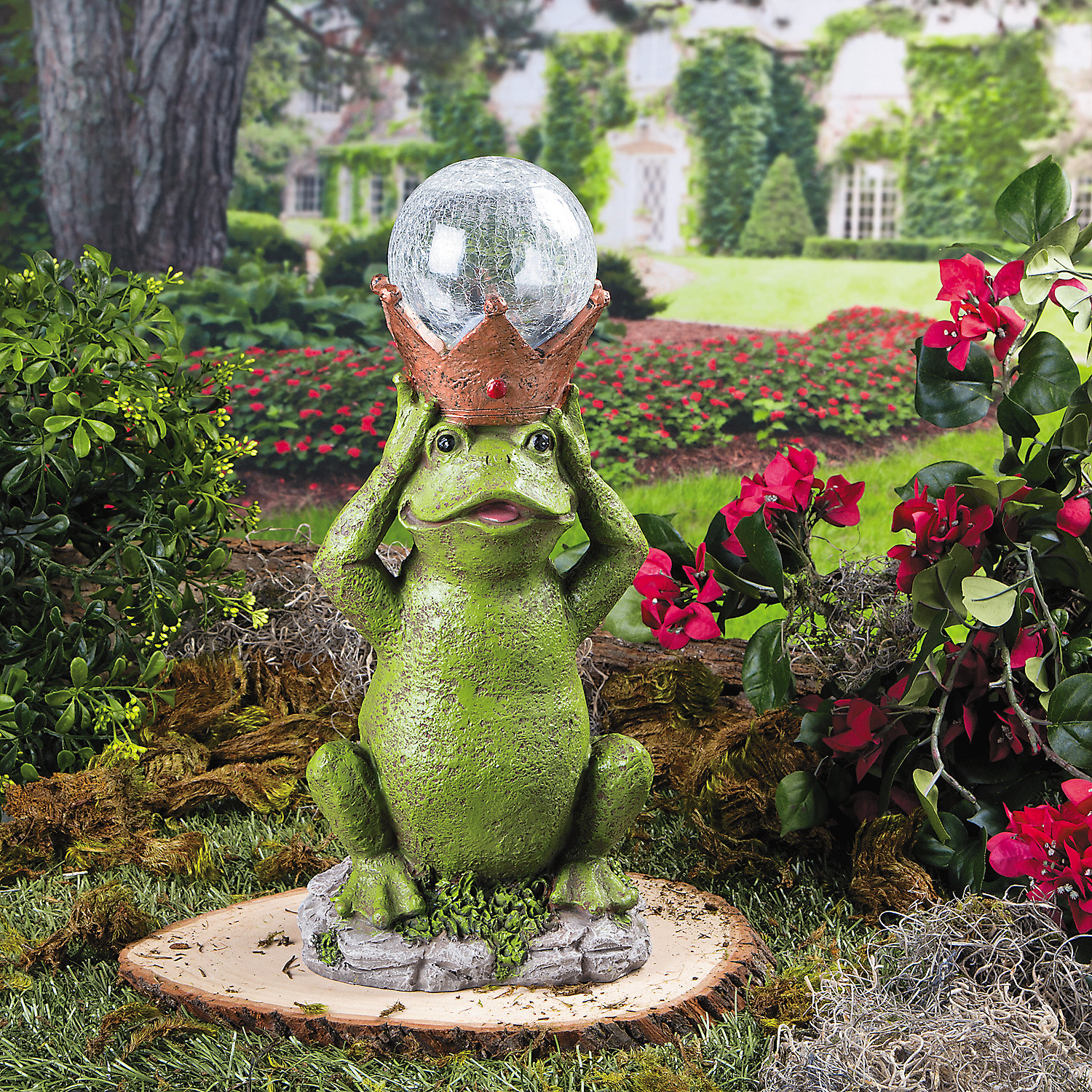 Frog prince solar garden statue party supplies outdoor for Garden ornaments and accessories
