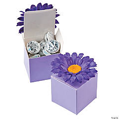 Lilac Box with Purple Flower