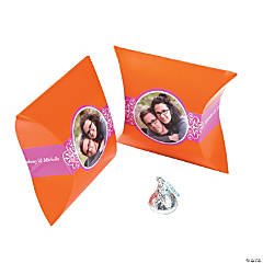Orange & Hot Pink Custom Photo Pillow Boxes