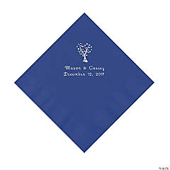 Love Tree Personalized Purple Luncheon Napkins