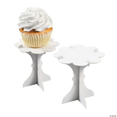 Mini White Cupcake Pedestals