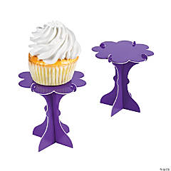 Mini Purple Cupcake Pedestals