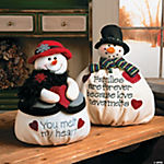 Plush Mr. & Mrs. Softy The Snowman Set