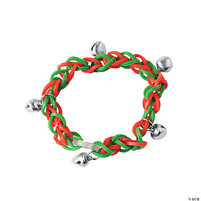 Red & Green Fun Loops Bracelets with Bells