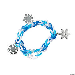 Winter Fun Loops Bracelets with Snowflakes