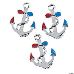 Red, White & Blue Anchor Charms