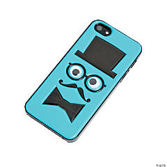 Plastic Blue Mustache Chap iPhone® 5 Case