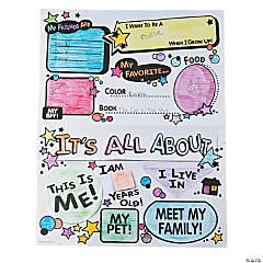 "Color Your Own ""All About Me"" Flip Posters"