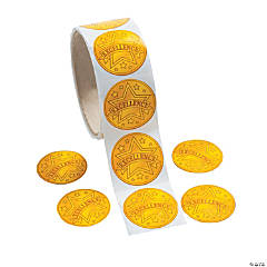 Excellence Seal Roll of Stickers