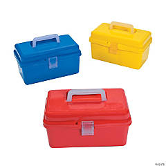 Classroom Storage Tub with Divider & Lid