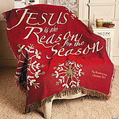 "Personalized ""Jesus Is the Reason"" Throw"