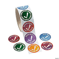 Checkmark Roll of Stickers