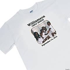 Family Reunion Custom Photo T-Shirt For Adults - Extra Large