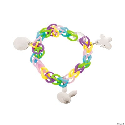 Easter Fun Loop Bracelets with Charms