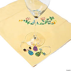 Easter Wine Charm Rings Idea