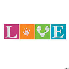 Love Hand and Footprint Canvases Idea