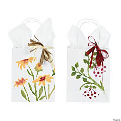 Stencilled Gift Bags Idea