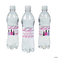 Personalized Spa Water Bottle Labels
