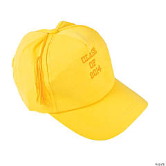 "Yellow ""Class Of 2014"" Graduation Baseball Cap"