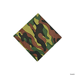 Party Camouflage Beverage Napkins