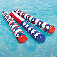 Inflatable Patriotic Pool Noodles
