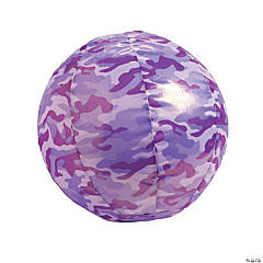 Inflatable Nylon-Covered Purple Camouflage Ball