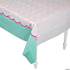 1st Birthday Pink Elephant Tablecloth