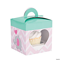 Pink Elephant Cupcake Boxes