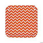Orange Chevron Dinner Plates