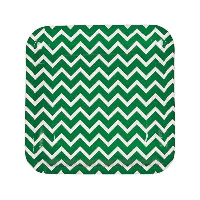 quickview · image of Green Chevron Paper Dinner Plates with sku13653510  sc 1 st  Oriental Trading & Chevron Paper Dinner Plates